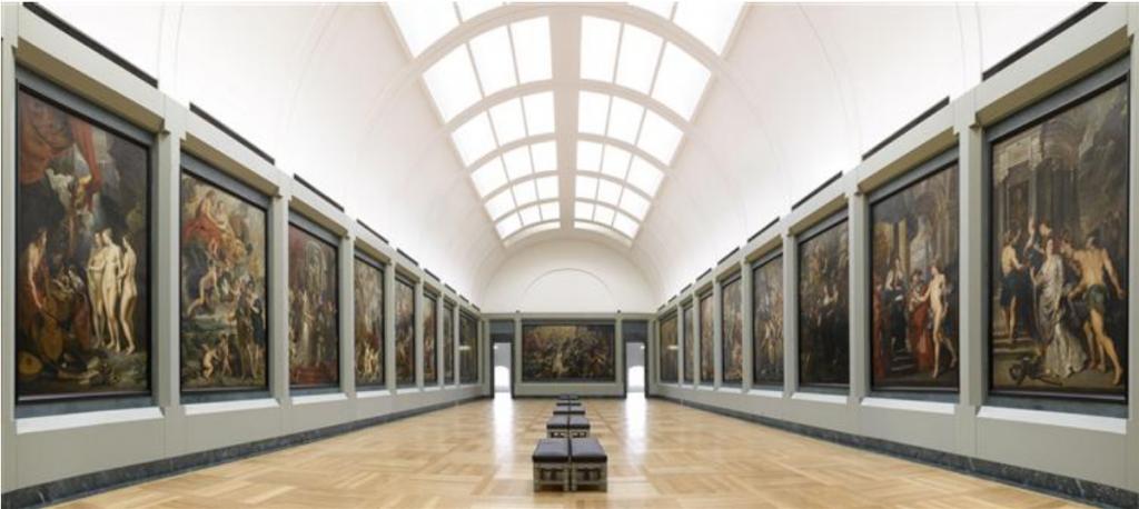 Vue de la galerie Médicis, Musée du Louvre, Paris, Crédit Photo (C) RMN-Grand Palais (musée du Louvre) / René-Gabriel Ojéda