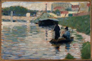 Seurat Georges, Vue de la Seine, 1882–83, huile sur bois, 15,9 x 24,8 cm, Metropolitan Museum of Art de New York