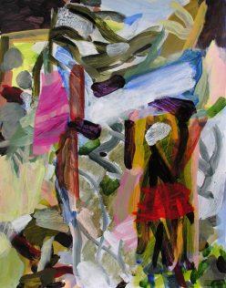 Jean-Marc Trimouille, Entre deux portes, acrylique, 50 x 65, 2020