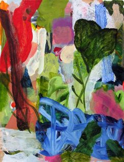 Jean-Marc Trimouille, Jardin, acrylique, 50 x 65 cm, 2018
