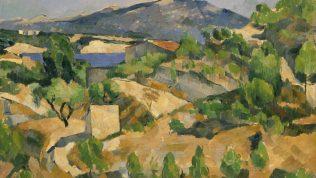 Cézanne Paul, Montagnes en Provence (le Barrage de François Zola), vers 1879, huile sur toile, 53,5 x 72,4 cm, Musée national du pays de Galles