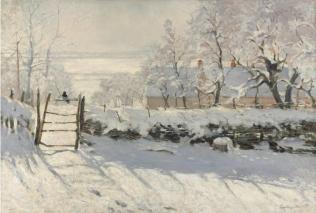 Monet Claude, La pie, 1868-1869, huile sur toile, 89 x 130 cm, Musée d'Orsay