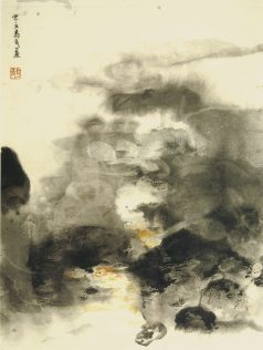 Xiao Qing, Eau des monts, peinture à l'encre, 46 x 34 cm, 2005