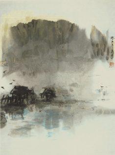 Xiao Qing, Aurore, peinture à l'encre, 45 x 34 cm, 2005