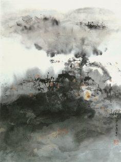 Xiao Qing, Brouillard matinal, peinture à l'encre, 46 x 34 cm, 2005