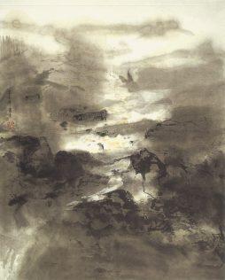 Xiao Qing, Clarté de lune, peinture à l'encre, 60 x 48 cm, 2005