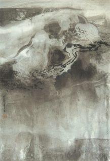 Xiao Qing, Cours d'eau, peinture à l'encre, 66 x 45 cm, 2004