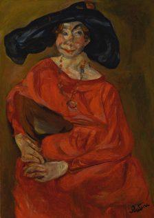 Chaïm Soutine, La femme en rouge, 1923-24, huile sur toile, 91,4 x 65,1 cm, Sotheby's, New York