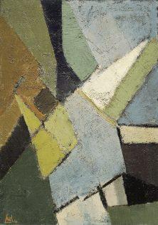 Nicolas de Staël, Composition, 1949, huile sur toile, 162,5 x 114 cm, Centre national d'art moderne, Paris