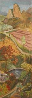 Clémentine Odier, panorama sino-français, huile sur toile