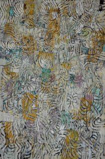 Jacques Dromart, Ondulation 2017, huile sur toile, 195 x 130 cm