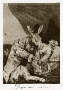 Goya Francisco, De que mal morira ? 1868-69, eau-forte et Aquatinte