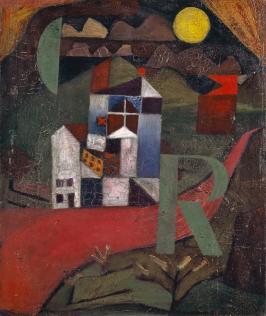 Klee Paul, Villa R, 1919, huile sur carton, 26,5 x 22 cm, Musée des Beaux-Arts, Bâle