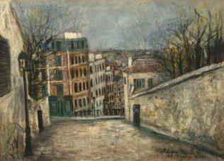 Utrillo Maurice, Rue du Mont-Cenis, 1914, huile sur carton parqueté, 76 x 107 cm, musée de l'Orangerie, Paris